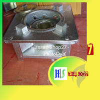 Kompor mini spirtus / Kompor emergency ukuran 14x14cm