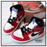 AIR JORDAN 1 HIGH OG SPIDERMAN (TD) for Kids Original sneakers anak