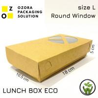 PAPER LUCH BOX SIZE L/ ECO PAPER LUNCH BOX/ KOTAK TAKE AWAY