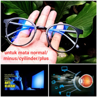 kacamata frame lensa anti radiasi blue ray/hp/laptop/komputer/gamers