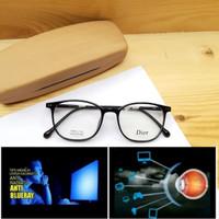kacamata pria / wanita + lensa anti radiasi komputer blueray