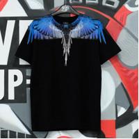 Marcelo Burlon Basic Wings Black Blue Tee 100% Authentic