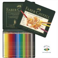 Faber Castell 24 Colour Pencils Polychromos Tin Case. Pensil Warna