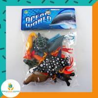 Ocean World Set / Set Mainan Figurine Binatang Laut