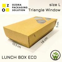 PAPER LUNCH BOX SIZE L / KOTAK TAKE AWAY WINDOW SEGITIGA/ ECO PAPER