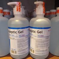 Aseptic Gel botol Pump ONEMED Original(biru) 500ml/ Onemed Gel 500ml