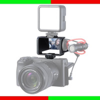 Vlog Selfie Flip Screen with Cold Shoe Mount Camera Youtuber