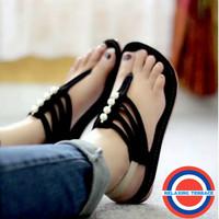 Sandal Wanita Flat Jepit Tali Mutiara SDL62 Flip Flop & Sandals