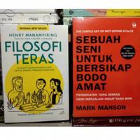 Paket 2 buku - Filosofi Teras + Sebuah Seni Untuk Bersikap Bodo Amat