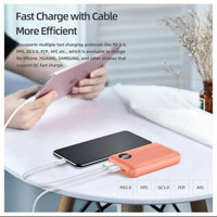 Powerbank ROCK P75 QC3.0 and PD Charge Fast Charging - Hitam