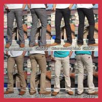 Celana Cut bray Cowok / Celana Panjang Pria Model Cut bray Hijau Army