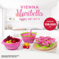Wadah/Tempat Es/Buah.. Vienna Maribella Bowl Set of 11