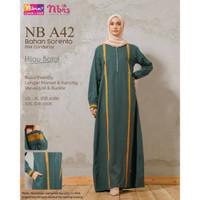 Baju gamis wanita terbaru NB A42 Ori gamis nibras busui limitedu