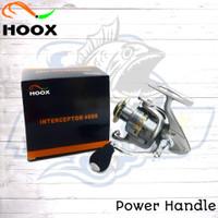 Reel HOOX INTERCERPTOR 4000 Power Handle,Reel Pancing Laut,Sungai