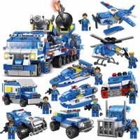 Lego Not City Police Car Truck mobil Station polisi Fireman import bag