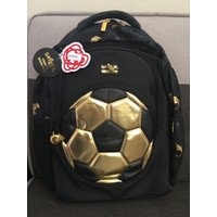 Smiggle Bag Backpack Soccer Bola Gold Black Tas Anak Sekolah Original
