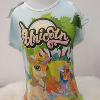 Kaos Anak Perempuan Unicorn merk COCO ICE