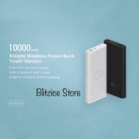 Xiaomi Powerbank Wireless Charger 10000mah Qi Power Bank Youth Version - Putih