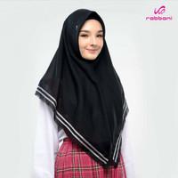 Kerudung Anak Sekolah SMP Rabbani / Jilbab Anak - KRD SILVIA HITAM