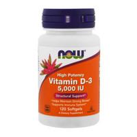 Now Foods: Vitamin D3, High Potency, 5,000 IU (120 Softgels)