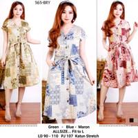 Dress Batik Busui / Dress Casual / Dress Batik Kancing Depan