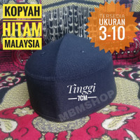 Songkok Hitam Peci Hitam Kopyah Hitam Malaysia