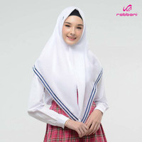 Kerudung Anak Sekolah SMP Rabbani / Jilbab Anak - KRD SILVIA PUTIH