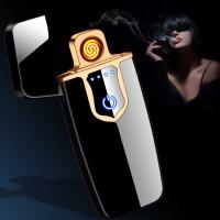 Korek Api Elektrik USB Fingerprint Touch Sensor LED Screen