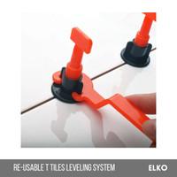 Reusable T Tile Leveling Kit Elko   50pcs perata nat keramik lantai 50