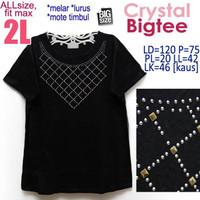 Crystal Bigtee 2L Kaos Wanita Jumbo BigSize Di Rumah Aja Santai
