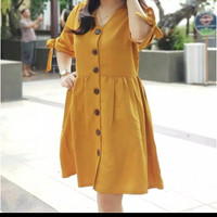 DRESS OLIVE fit to L Bahan twiscone - Orange