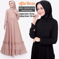 Gamis Syari Afia Dress Babydoll ceruty / Dress Muslim