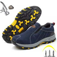 Sepatu safety fashion pria Model Sport Slop Safety Shoes #29