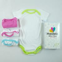 Baju Jumpsuit / Bodysuit / Jumper 4 Pcs in Square Box, Mastela