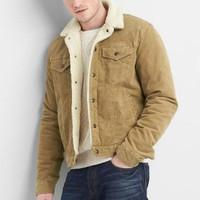 Jaket Pria GAP Denim Corduroy Brown Jacket Original