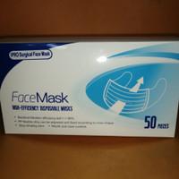 Masker face mask 3 ply earloop @50 pcs
