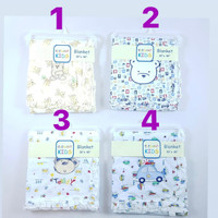 "Blanket / Selimut Bayi Frill 2ply, ukuran 30"" x 40"", J5322"