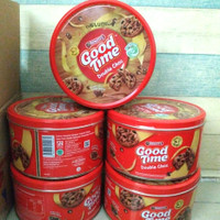 Cookies GOOD TIME Assorted 149gr / Biskuit Kaleng / Chocohips Goodtime