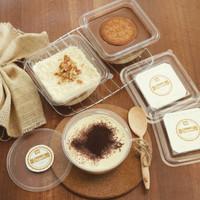 PAKET 3 box puding regal cokelat keju banoffe dessert box