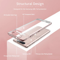 Case Clear Samsung Galaxy A80 2019 New Arrival Plating Luxury