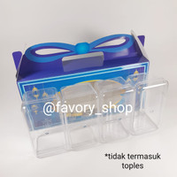 Box Lebaran 4 Toples 350gr / Packaging Hampers Idul Fitri