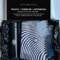JOYFUL BUNDLE ( notebook + pouch + tumbler )