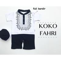 Koko Romper Fahri / Baju Koko Bayi / Baju Muslim Bayi / Koko Aqiqah