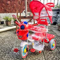 Sepeda anak roda tiga family F9933 kanopi musik dorongan
