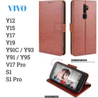Case Wallet Leather VIVO Y 12 15 17 19 91 93 95 S1pro Casing Dompet