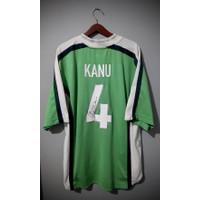 Jersey original Nigeria home 1998 world cup signed kanu