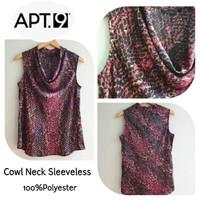 APT Cowl Neck sleeveless Tops