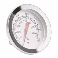 Termometer Oven BBQ Grill Analog Stainless Steel 0-400 C Thermometer