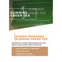PELANGSING SLIMMING GREEN TEA PAKET PREMIUM (4-10 KG)