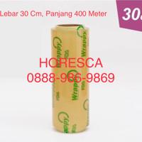 Plastik Wrapping Makanan Buah Merek WRAPPY Ukuran 30 cm x 400 m / Roll